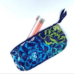 Vera Bradley blue floral pencil case
